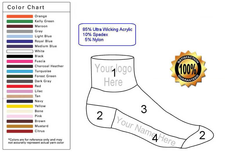 custom ankle sock template
